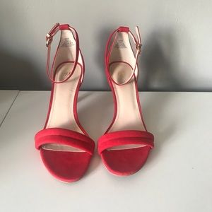 Worn once H&M red heel sandals